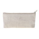 Aspire Canvas Pencil Zipper Pouch, Flat Bottom Makeup Bag, 7 1/2