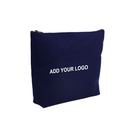 Aspire Custom Canvas Makeup Pouch, Flat Bottom Zipper Bag for Cosmetics - 2 Sizes
