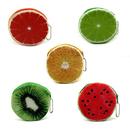 Aspire Cute Round Fruit Coin Purse, Plush Keychain Purse, Children's Day Gift