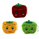 Aspire Cartoon Apple Plush Coin Purse, 4 Inch Candy Pouch Keychain