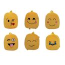 Aspire Cute Emoji Shoulder School Bag, Plush Backpack for 4-5 Years Old Kids