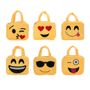 Aspire Plush Handbag with Emoji Face Design, 8