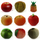 Aspire Colorful 3D Fruit Shape Plush Coin Purse, 4 Inch Mini Zipper Coin Purse with Ball Chain