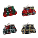 Aspire Snowflake Plaid Mini Buckle Purse, Christmas Gift Idea - Wholesale