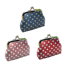 Aspire Polka Dot Clasp Closure Purse, Fashion Mini Candy Pouch
