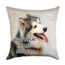 Custom Picture Pillow Cover, Design Your Own Linen Pillowcase, Premium Personalize Gift