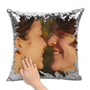 Custom Photo Sequin Pillow Cover, Design Your Magic Mermaid Reversible Sequin Pillowcases, Home/Party Decoration