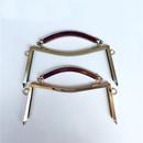 Aspire 8 Inch Metal Frame Kiss Clasp Lock for Handbag Making, with Holes / No Holes