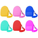 Aspire 6 Pcs Silicone Coin Purse, Backpack Shape Bag for Storing Money, Coin, Earphone, Key Mini Wallet