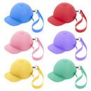 Aspire 6 Pcs Silicone Coin Purse Baseball Cap Shape Key Wallet Coin Bag Earphone Case Candy Color