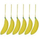 Aspire 6 Pcs Silicone Coin Purse Banana Shape Portable Coin Pencil Case Purse Bag Wallet Pouch
