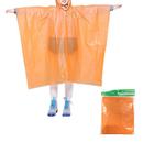 GOGO Kids Rain Poncho, Children's Disposable Ponchos with Drawstring Hood