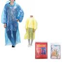 GOGO Custom Emergency Rain Poncho with Drawstring Hood and Sleeves, Adult & Kid Size