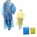 GOGO Emergency Rain Poncho with Drawstring Hood and Sleeves, Adult & Kid Size