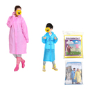 GOGO Personalized EVA Raincoat with Hoods and Full Sleeves, Parent / Child Jacket Rain Poncho
