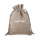 Aspire Custom Burlap Drawstring Pouches, Jute Wedding Bag, 4 Sizes