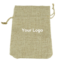 Aspire Custom Natural Burlap Bags with Hemp Drawstring, Jute Bags - 3 Sizes