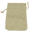 Aspire Natural Burlap Bags with Hemp Drawstring, Blank Jute Bags - 3 Sizes