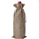 Aspire Sample Natural Linen Wine Bags with Drawstrings, 6 5/16 x 14 3/16 Inch Solid Color Favor Bags