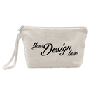 Price/10-Pack Personalized Name and Logo with Canvas Wristlet Makeup Bag, 7 1/2 x 4 1/4 x 2 Inches