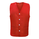 Unisex Button Front Apron Vest, Uniform Vest With Waist Pockets