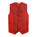 3-Button Polyester Waiter Vest Supermarket Volunteer Staff Uniform / Security Services Workwear Vest