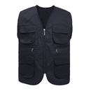 Custom Supermarket Volunteer Activity  Twill Vest Outdoor Multi-pocket Waistcoat Vest For Adult & Kids