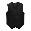 Waiter Bartender Uniform Unisex Button Vest For Supermarket Clerk & Volunteer