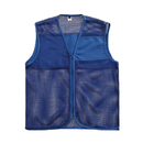 Custom Mesh Supermarket Vest For Commercial Team Breathable Volunteer Zipper Uniform Vest