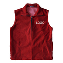 Custom Women Fleece Vest Mountain Vest Volunteer Activity Vest with Pockets & Zipper