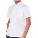 Custom Chef Coat Short Sleeve Chef Jacket Personalized Uniform Add Name & Logo