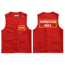 Custom Adult Volunteer Uniform Vest Polyester Zipper Supermarket Activity Vest