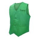 Custom Waiter Bartender Uniform Unisex Button Vest For Supermarket Clerk Volunteer Customized Uniform