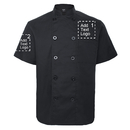 TOPTIE Custom Chef Coat Short Sleeve Chef Jacket Heat Transfer Embroidered Personalized Uniform