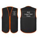 TOPTIE Custom Supermarket Uniform Vest Heat Transfer Printing Zipper Volunteers Event Vest