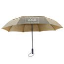 Double Vented Windproof Umbrella, 42 inch Manual Foldable Umbrellas