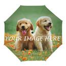 Custom Photo Manual Umbrella, Personalized Design, Advertising DIY Foldable Umbrellas Gift
