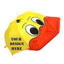 TopTie Custom Duck Umbrella for Kids, Lightweight Child-Sized Nylon Rain Proof Umbrella