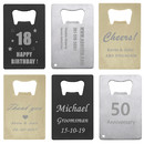 Laser Engrave Personalized Credit Card Bottle Openers Stainless Steel Beer Cap Opener Size Fit for Your Wallet