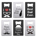10 PCS Stainless Steel Bottle Opener Father's Day Gift Party Favors