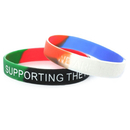 GOGO Customized Segmented Silicone Bracelets, 2 or 3 Colors Rubber Wristbands, Add Your Logo