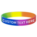 GOGO Personalized Rainbow Pride Silicone Bracelets, Customized Rubber Bands, Great For Events