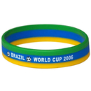 GOGO Blank Srtiped Silicone Bands, Flag Wristbands, Great For Match