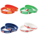 GOGO Flag Silicone Wristband Basketball Bracelet, Football Fans Rubber Bands