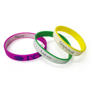 GOGO Writable Silicone Bracelets With Imprinting Logo, Customized Rubber Bands