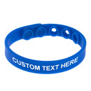 GOGO Adjustable Silicone Bracelets With Logo, Customized Rubber Wristbands, Great For Adults And Kids