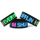 GOGO Blank Silicone Wristbands, Big Rubber Bracelets, Party Favors