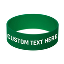 GOGO 100 PCS Customizable Silicone Bracelets with LOGO Wristbands for Motivation Support Awareness