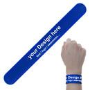 Custom Silicone Slap Bracelets Color Printed Wristband Party Favors Reward Carnival Prize