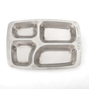 Custom Wholesale 4 Section Dinner Tray Deep Square Metal Tray, 14.4